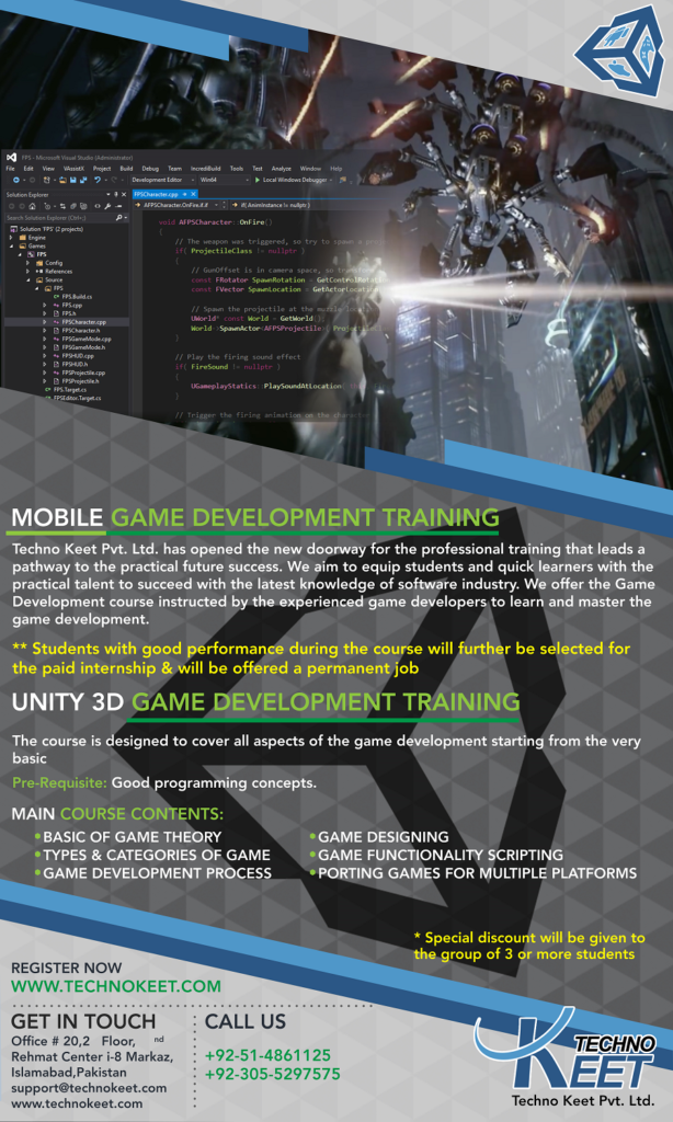 Unity3d training poster